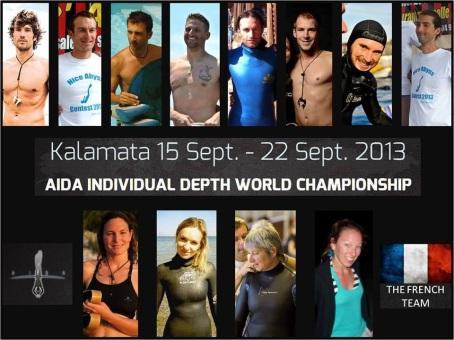 Championnat monde profondeur AIDA 2013 Kalamata Grece