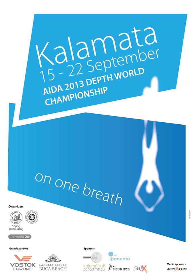 Championnats du Monde de profondeur AIDA 2013 à Kalamata en Grèce, du 15 au 22 septembre (1/6)
