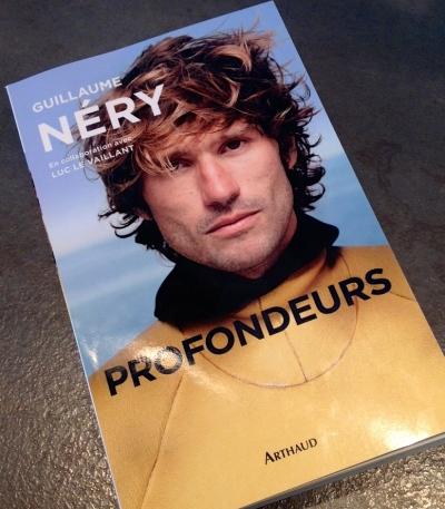 """Guillaume Néry, """"Profondeurs"""", aux Editions Arthaud."""