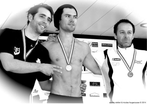 Arthur Guerin-Boehri, Alexis Duvivier, Christophe Bruel, podium Dynamique sans palme.