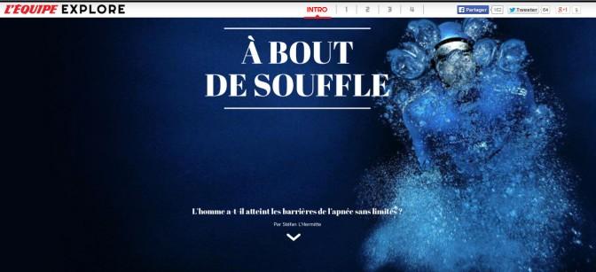 Web-documentaire sur l'apnée par le magazine L'Equipe Explore