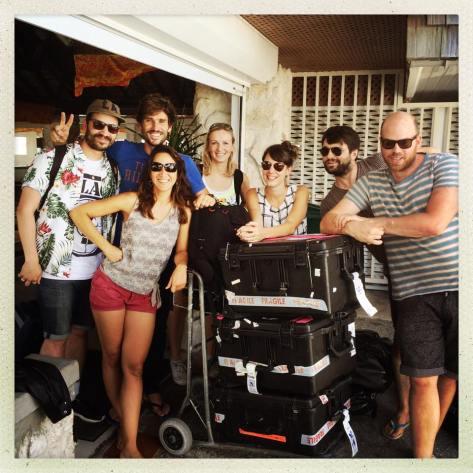 Juillet 2015, Rangiroa, en polynésie française, avec Guillaume Néry, Julie Gautier, et Alice Modolo.